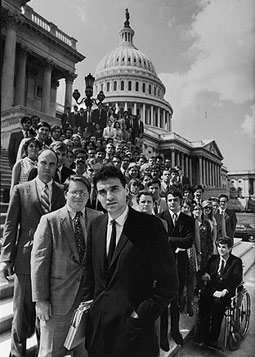 Ralph Nader at the Steps of the Capitol Building