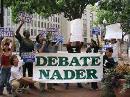 Ralph Nader Supporters Protesting Outside the CPD in 2004