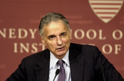 Ralph Nader Speaking at the Kennedy School of Government at Harvard University