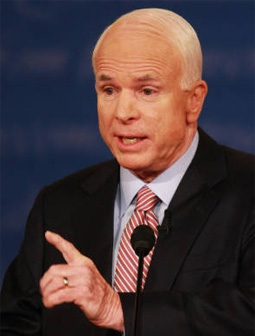 John McCain at the First 2008 Presidential Debate
