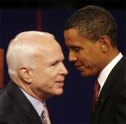 John McCain & Barack Obama at the First 2008 Presidential Debate