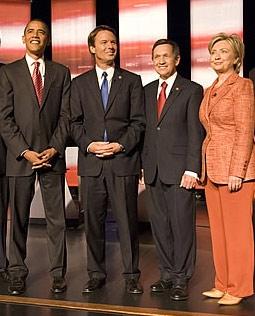 Barack Obama, John Edwards, Dennis Kucinich, & Hillary Clinton