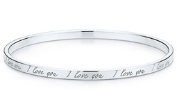 Tiffany & Co. – Tiffany Notes I Love You Bangle Bracelet