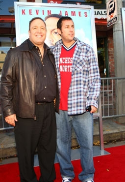 Kevin James & Adam Sandler at the Premiere of Paul Blart: Mall Cop