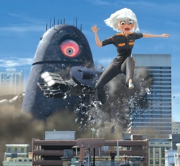 Susan Murphy, played by Reese Witherspoon, in Monsters vs. Aliens