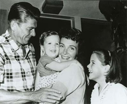 President Ronald Reagan, Ron Reagan, Nancy Reagan, & Patti Davis