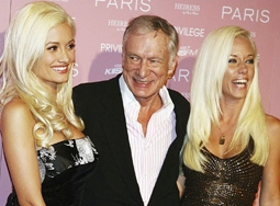 Holly Madison, Hugh Hefner & Kendra Wilkinson
