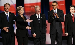 John Edwards, Hillary Clinton, Howard Dean, Barack Obama, Dennis Kucinich