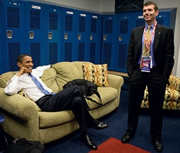 President Barack Obama & David Plouffe