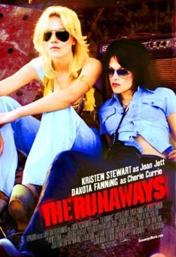 The Runaways, with Kristen Stewart as Joan Jett & Dakota Fanning as Cherie Currie