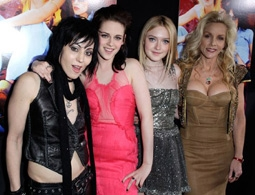 Joan Jett, Kristen Stewart, Dakota Fanning, & Cherie Currie