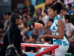 Jaden Smith & Taraji P. Henson in The Karate Kid
