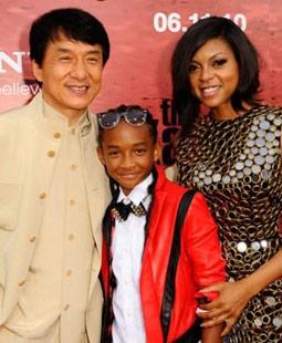 Jackie Chan, Jaden Smith, & Taraji P. Henson at The Karate Kid Premiere