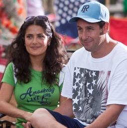 Salma Hayek & Adam Sandler in Grown Ups