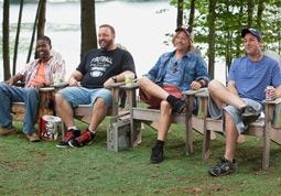 Chris Rock, Kevin James, David Spade & Adam Sandler in Grown Ups