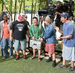 Behind the Scenes of Grown Ups, with Chris Rock, Kevin James, Rob Schneider, David Spade & Adam Sandler