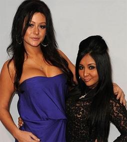 JWoWW (Jenni Farley) & Snooki (Nicole Polizzi) from Jersey Shore