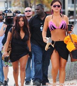 Snooki (Nicole Polizzi) & JWoWW (Jenni Farley) from Jersey Shore
