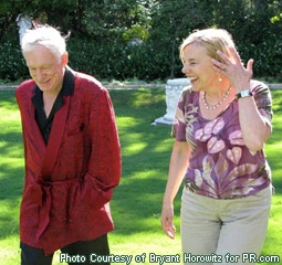 Hugh Hefner with Filmmaker Brigitte Berman