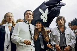 Hugh Hefner, Ex-Girlfriend Barbi Benton and Roman Polanski