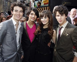 Demi Lovato with the Jonas Brothers