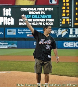 Gary Dell'Abate (Baba Booey) Throwing the First Pitch at a 2004 Mets Game