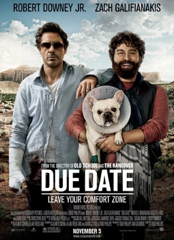 Due Date with Robert Downey, Jr. & Zach Galifianakis