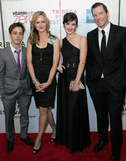 Matt Bush, Kerry Bishe, Anna Wood & Edward Burns at the Tribeca Film Festival