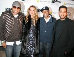 LL Cool J, Nicola Breytenbach, Russell Simmons & David Blaine