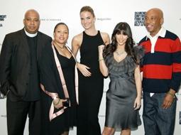 "Joseph ""Rev Run"" Simmons & Wife Justine, Nicola Breytenbach, Kim Kardashian & Russell Simmons"