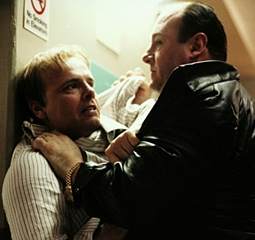 James Gandolfini & Joe Pantoliano in The Sopranos