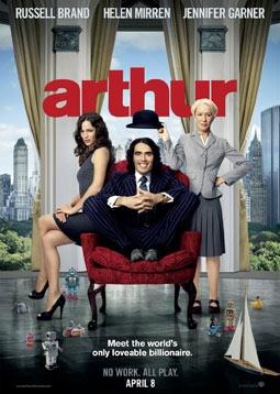 Arthur with Russell Brand, Helen Mirren & Jennifer Garner