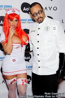 Coco Austin & Ice-T at Heidi Klum & Seal's Halloween Party