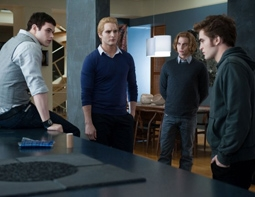 Kellan Lutz, Peter Facinelli, Jackson Rathbone & Robert Pattinson in The Twilight Saga: Eclipse