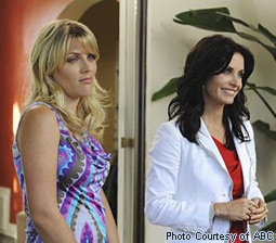 Busy Philipps & Courteney Cox in Cougar Town