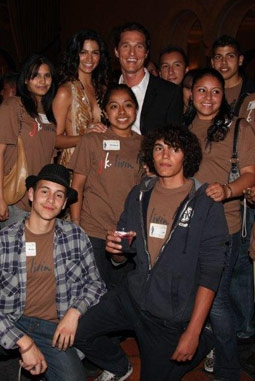Camila Alves & Matthew McConaughey with Members of Their j.k. livin Program