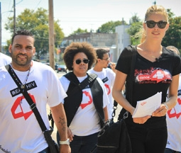Doutzen Kroes Visiting a Philadelphia School for Dance4Life