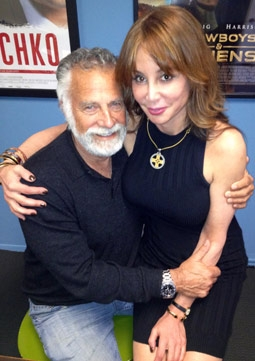 Publicist Liza Anderson with Dos Equis Beer Spokesman, Jonathan Goldsmith