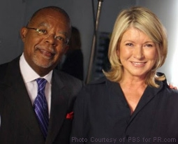 Henry Louis Gates, Jr. with Martha Stewart in Finding Your Roots