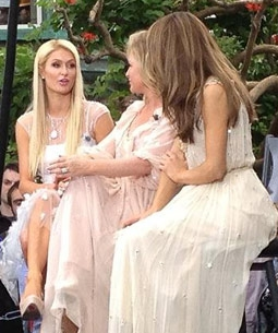 Paris & Kathy Hilton & Maria Menounos at a Fashion Show for The Kathy Hilton Collection