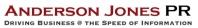 Anderson Jones PR Overview