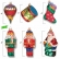 European Vintage Sampler Ornament 6 Pack