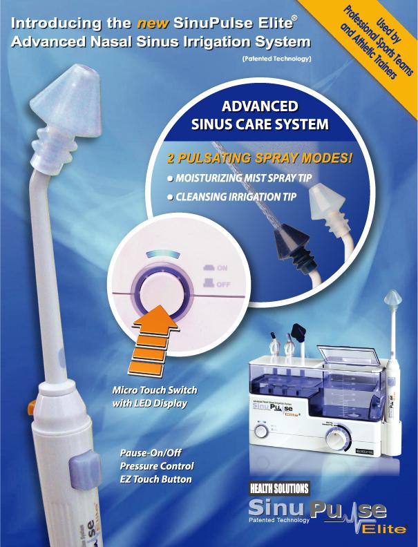 Sinupulse Elite 174 Revolutionary New Pulsatile Nasal Irrigation Device Published Medical Reports