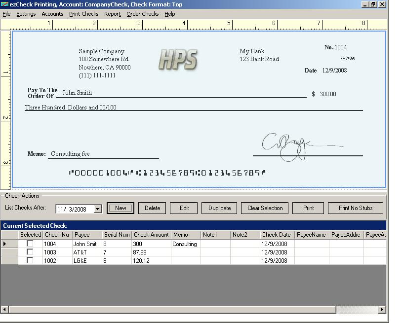 New Check Printing Software Was Customized For Small
