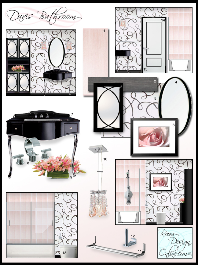 Recession creates holiday bargains with online interior for Bathroom design board