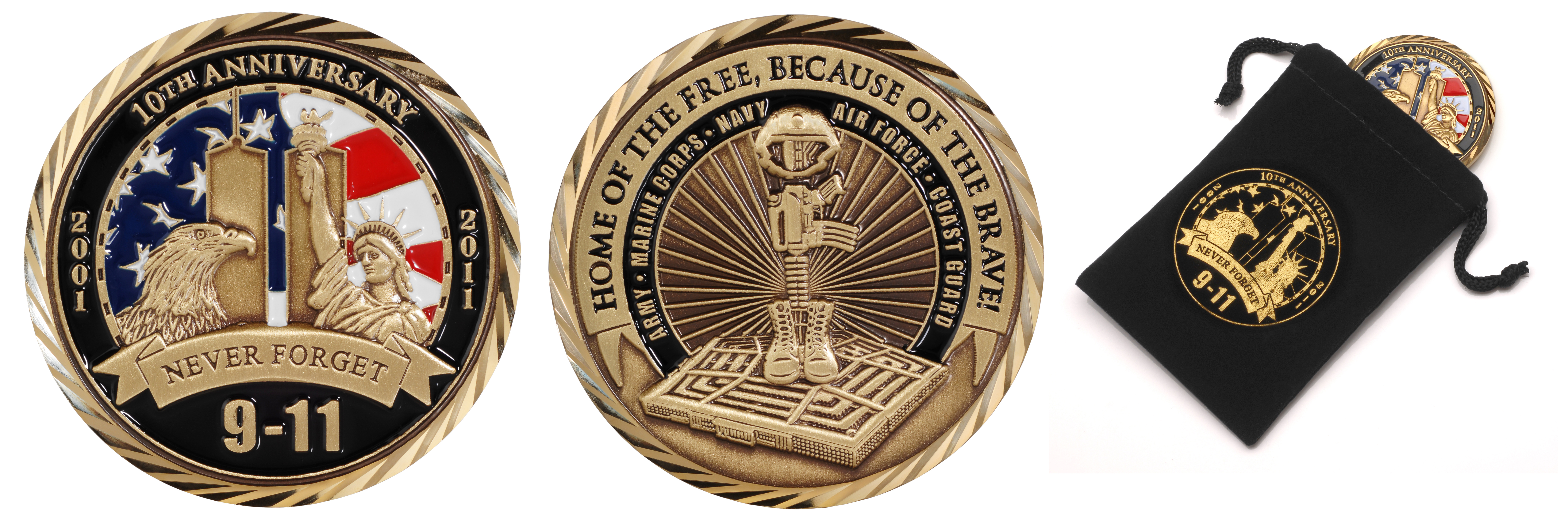 9 11 10th Anniversary Challenge Coin Raising 911 000 For