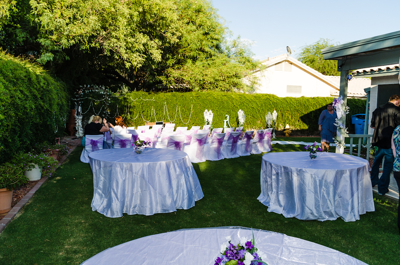 Purple Backyard Wedding : Local Company ReDiscovers the True Meaning of Marriage  PRcom