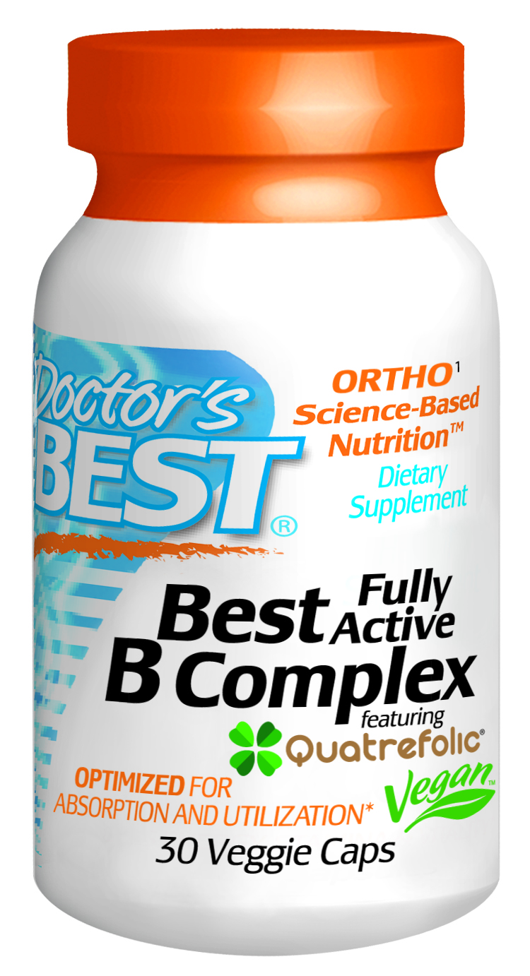 Fully Active Folate With Quatrefolic 400 Mcg: Doctor's Best Introduces Best Fully Active B Complex