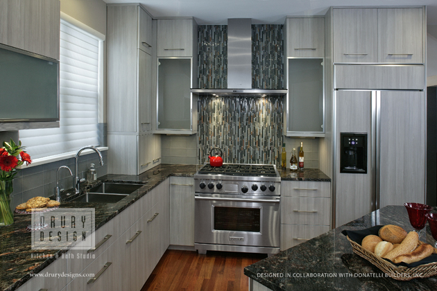 Contemporary Kitchen Design Townhouse Remodel Honored with