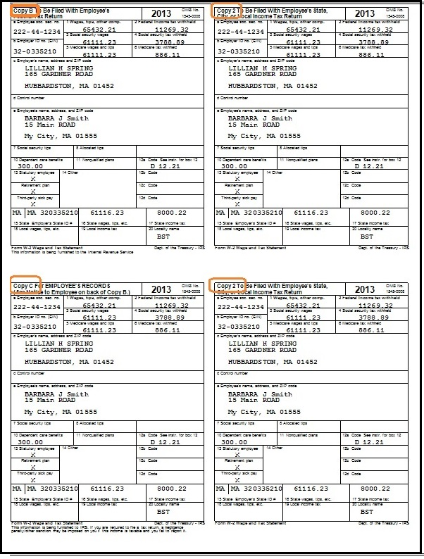 4-up-w2-form Tax Application Form on free printable state, printable 1040ez federal, federal income, social security, state income,